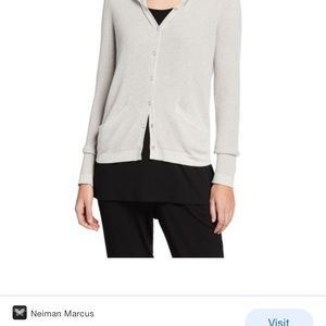 NWOT Eileen Fisher Snap Front Cardigan Grey Size M